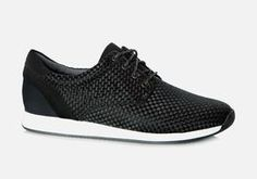 Super clean sneaker with a clean outsole and upper in black mesh. This style is just as comfy as stylish! Dad Sneakers, Best Sneakers, Fashion Shoes, Mens Fashion, Black Mesh, Cole Haan, Oxford Shoes, Dress Shoes, Moda Masculina
