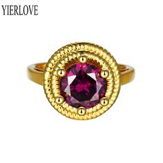 High Quality Nickle Free Antiallergic New Fashion Jewelry 24K Plated zircon Ring R103-A-8
