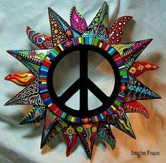 Floral Peace Sign // Flower Power, Motivational Print ...