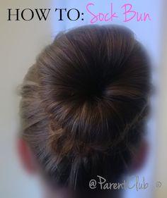 Great hair do idea for a princess costume! How To: Sock Bun
