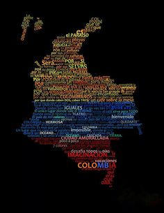 map of Colombia Colombia Map, Colombia South America, Largest Countries, Countries Of The World, Power Trip, Spanish Speaking Countries, World Thinking Day, How To Speak Spanish, Places To See