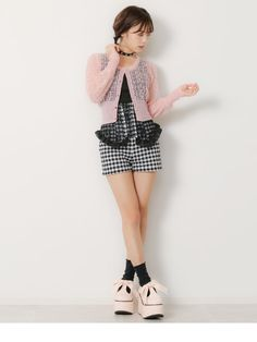 dreamv | Rakuten Global Market: I prepare for Gurley young lady refined おしゃれかわいいきれいめ Shin pull crew neck air conditioner measures / white pink black black and white plain fabric /M L/ in cardigan watermarks pattern soft and fluffy mohair short long Japanese paper sleeve knit fall and w
