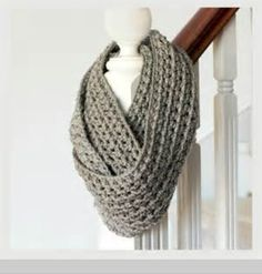 Love the gray look on this scarf