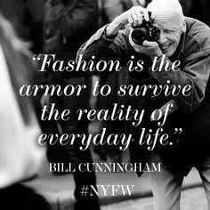 Legendary fashion photographer Bill Cunningham.
