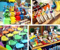Festa Arco-Íris : Festa infantil tema Arco-Íris. Contato: nanda@sitiovoceeeu.com.br | fernanda_frazao Rainbow Party Decorations, Web Magazine, Polymer Clay Art, Best Web, Parties, Kids, 5 Years, Pen And Wash, Fiestas