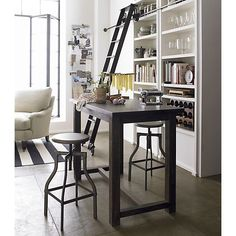 district high dining table in dining kitchen tables crate and barrel - High Kitchen Tables