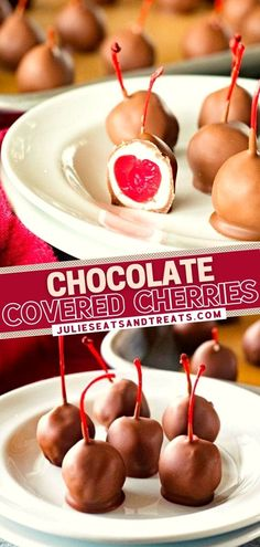 Once you try making these store-bought treats at home with your kids, you won't have them any other way! The holidays won't be complete without this easy recipe. Grab the ingredients and prepare these Chocolate Covered Cherries ahead for the perfect Christmas dessert! Christmas Desserts Easy, Simple Christmas, Delicious Desserts, Dessert Recipes, Chocolate Covered Cherries, Holiday Tables, Homemade Chocolate, Cherry, Easy Meals