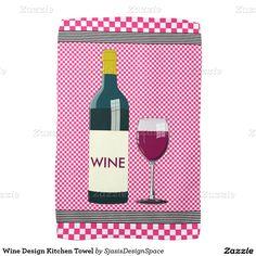 Wine Design Kitchen Towel