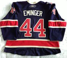 5ec200b80 Steve Eminger Game Worn New York Rangers jersey 2010 2011 Set 2  gameworn