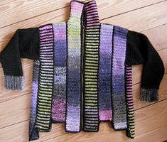 Nørklekonen: Jakke strikket i strimler