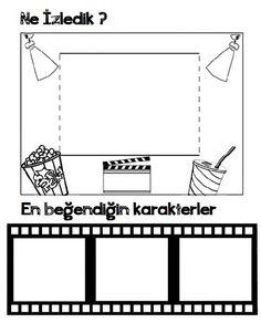 preschool cinema activity, preschool film activity, cinema art activities, popcorn coloring page Preschool Art Activities, Preschool Printables, Colored Popcorn, Coloring Pages For Kids, Pre School, Early Childhood, Cinema, How To Plan, Children