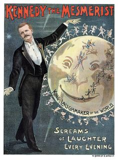 Kennedy The Mesmerist 1890s Hypnotism Magic Poster | eBay
