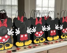 Mickey and Minnie Mouse Birthday Party (Set of 10) Favors/ Bags/ Goodie/ Goody/ Loot/ Candy/ Treat Bags/ Bag/ Supplies/ Decoration