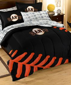 Love this San Fransisco Giants Twin Bedding Set on #zulily! #zulilyfinds @Jenny Barnes