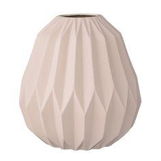 Matte Nude Fluted Vase