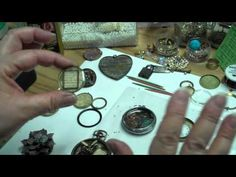 BEZELS - great ideas. Great video on Mixing, Pouring and Creating Altered Art Bezels With ICE Resin