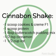 Cinnabon Herbalife shake  https://www.goherbalife.com/meaganms/en-US                                                                                                                                                     More