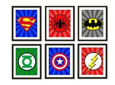 •Super hero framed wall art• RA