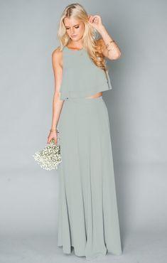 Vestido de Dama de Honor en dos piezas Mumu Wedding f7c6378b31816