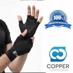 Copper Compression Arthritis Gloves - https://www.coppercompression.com/products/copper-compression-arthritis-recovery-gloves-1  These cut-off gloves keep your fingers free to write, type, swipe (on your smartphone), do household chores, knit, and everything else you used to take for granted.