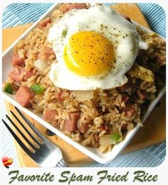 Favorite spam fried rice recipe. Get more local style fried rice recipes here.
