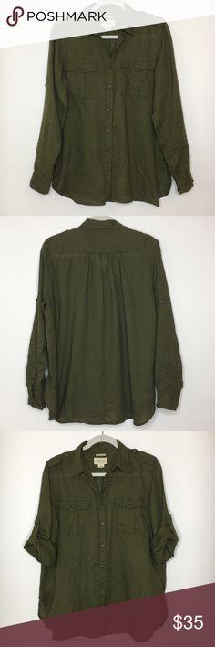 b72c9ac7de Denim   Supply RL Dark Green Button Front Shirt L Denim   Supply Ralph  Lauren RL