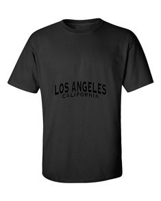 Los Angeles Black Unisex Fasion California T-Shirt