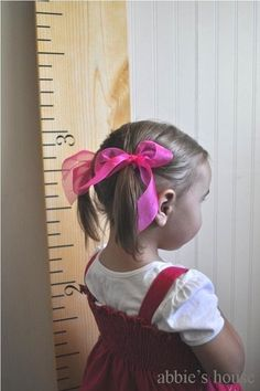 oversize ruler growth chart- vinyl decal. perfect first birthday present- you supply the board.