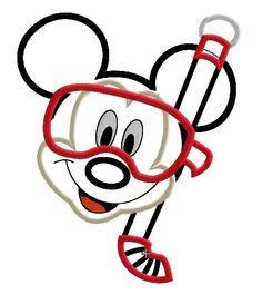 Mickey Mouse Snorkel Applique