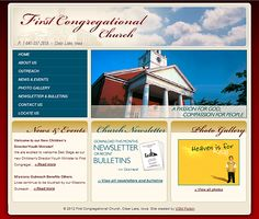 Specialty website for First Congressional Church by VGM Forbin.