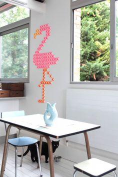 papier peint flamand rose 4Murs | TOURS deco | Pinterest | Flamand ...
