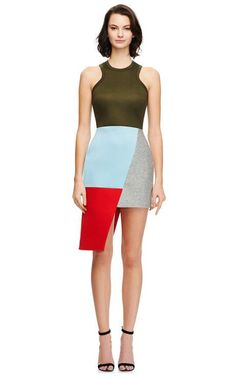 Josh Goot Asymmetric Color-Block Neoprene Dress Now Available on Moda Operandi