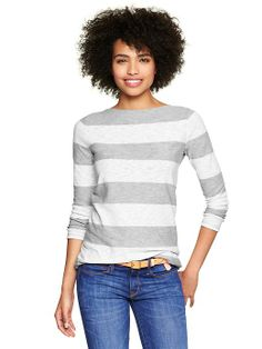 Stripe Boatneck T