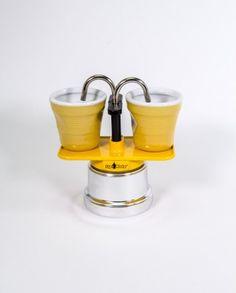 Espressokocher - Top Moka Mini Two - gelb