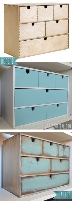 Another IKEA Update- Turn a old IKEA Moppe Organizer into a modern rustic Makeover | A Shade Of Teal