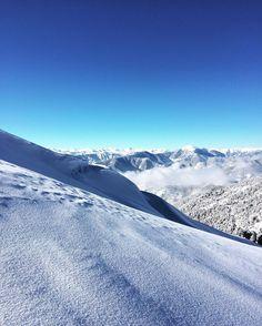 #snow #white #snowwhite #climbing #mountains #sky #blue #bluetones #pinetree #instagram