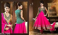 Latest Designer Asian Anarkali Traditional Suit NEW