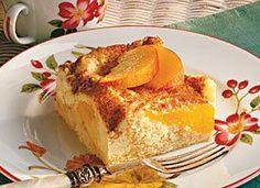 Sour Cream-Peach Coffee Cake