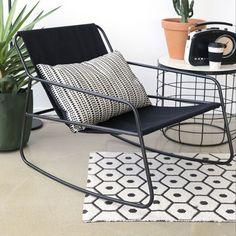 schommelstoel-zwart