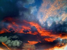 """Clouds. The color variety is super interesting. Though perhaps too """"sunset""""?"""