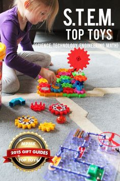 Best toys for building STEM (science, technology, engineering & math) skills - love the range of ages covered here. This is just one of 10 gift guides and I tell all my friends about them - super detailed and suggested ages too! #kidstoy