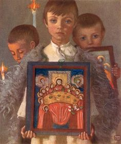 Romanian Procession by Marianne Stokes