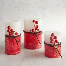 Beautiful Candles, Best Candles, Diy Candles, Pillar Candles, Christmas Candle Decorations, Christmas Flower Arrangements, Christmas Candles, Candle Making At Home, Candle Making Business