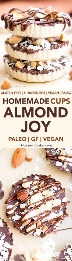(39) Homemade Almond Joy Cups (Paleo, Vegan, Gluten Free, 5-Ingredient) | Recipe
