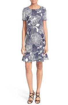 DIANE VON FURSTENBERG 'Deon' Floral Print Silk Sheath Dress. #dianevonfurstenberg #cloth #