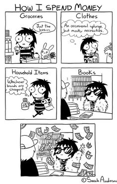 Sarah's Scribbles :: How I Spend Money | Tapastic Comics - image 1