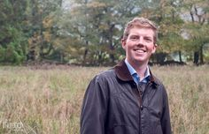 Smiley groom-to-be on a Yorkshire Dales farm engagement shoot in the autumn | Photography by www.colinmurdochstudio.com