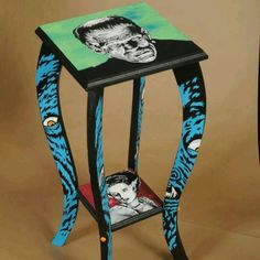 Frankenstein and his mate table ..need you in my life. lol