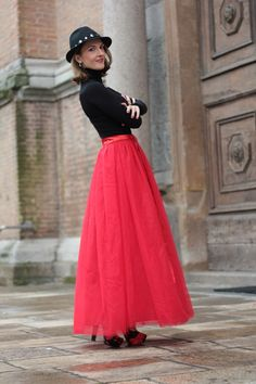 "Today on my Fashion Blog ""Red tulle skirt - Christmas Outfit idea"" My second experience with Chicwish.com by Maggie Dallospedale Fashion Blogger"