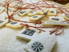 Christmas Hangers ♥ made of salt dough